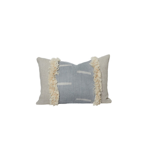 Marisa Mud Cloth Lumbar Pillow Front