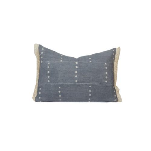 Dottie Gray Lumbar Mud Cloth PIllow - Front