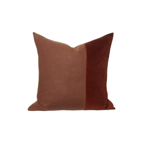 Louis Velvet Red Jasper Pillow - Front