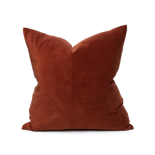 Sophie Red Jasper Velvet Decorative Pillow - Front