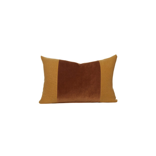 Aden Golden Topaz Velvet Decorative Pillow - Front