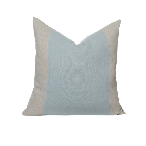 Christina Euro Pillow French Blue Linen - Front