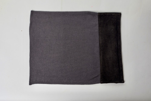 Alexis Linen and Velvet Placemat Detail- Shungite