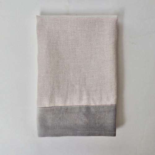 Alexis Napkin Gray Linen and Velvet - Product