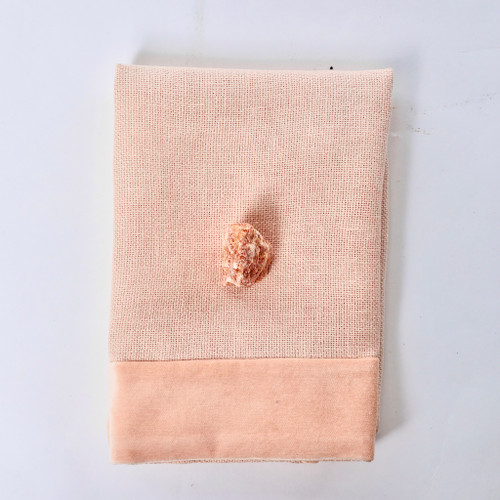 Alexis Napkin Blush Nude Linen and Velvet - Styled