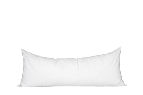 14 x 36 Lumbar Feather Down Pillow Insert - Made in USA