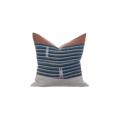 Vintage African Indigo Pillow  - Indigo Trail Pillow 22 - Front View
