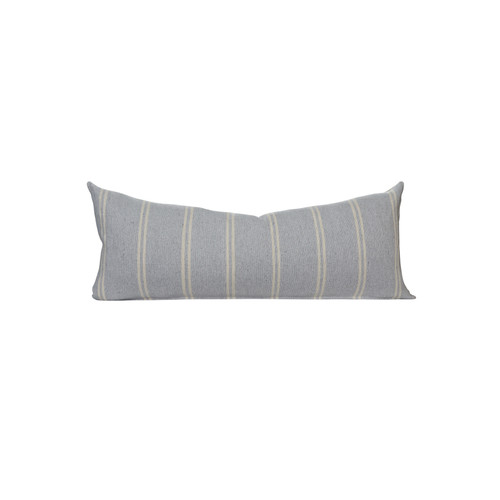 Gris Clair Capri Stripe  14 x 36 Decorative Lumbar - Front