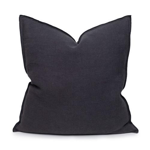 Santal Linen Pillow 22 - Carbon - Front View