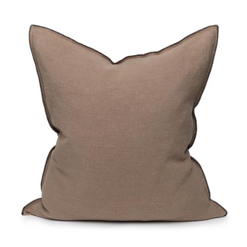 Santal Linen Pillow 22 - Stone - Front View