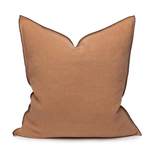 Santal Eco- Linen Pillow - Sunstone - Front View