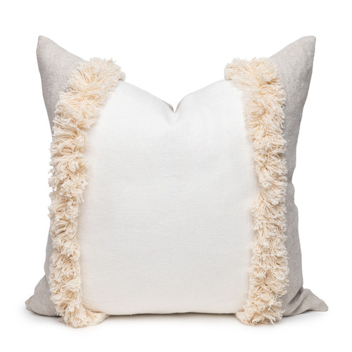 Muse Linen Pillow Blanc White - 22 - Front View