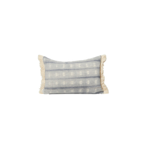 Drew Gray Tie Dye Mud Cloth Pillow - Front