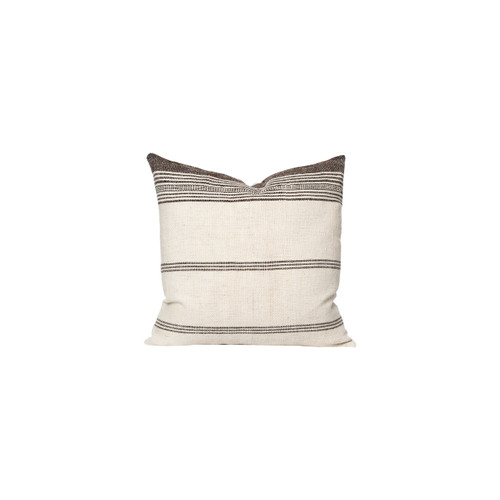 Eliss - Hand Loomed wool Indian stripe pillow - Front