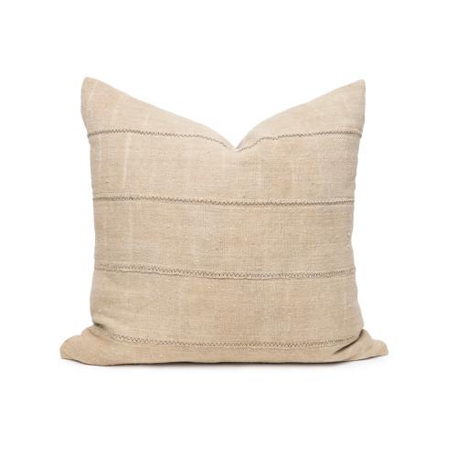 Joe Taupe Mud Cloth Pillow - Front