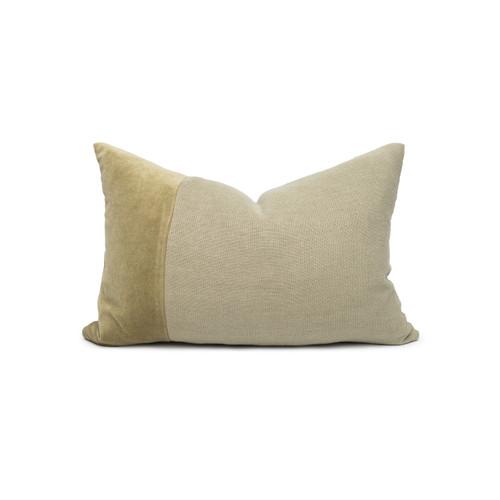 Doux Jade Velvet Lumbar Pillow - Front