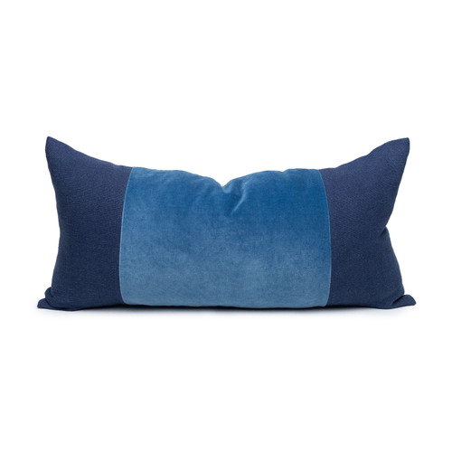 Chante Kyanite Velvet Lumbar Pillow - Front