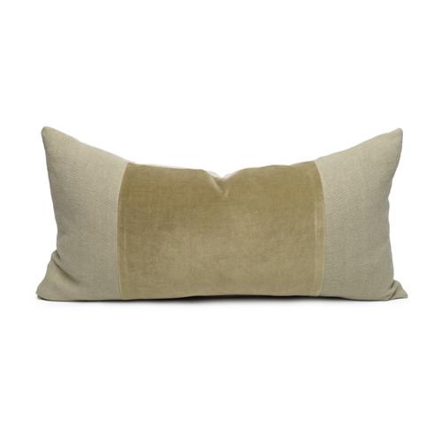 Chante Jade Velvet Lumbar Pillow - Front