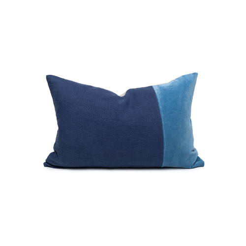 Doux Kyanite Velvet Lumbar Pillow - Front