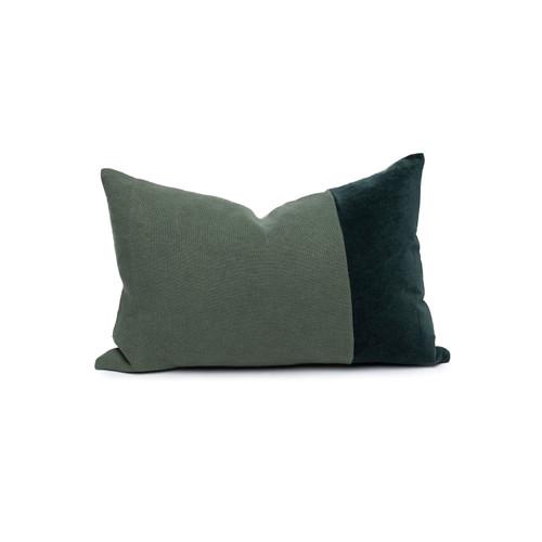 Doux Tourmaline Velvet Lumbar Pillow - Front