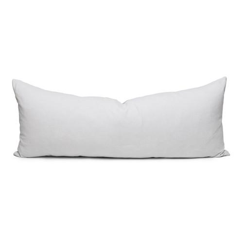 Palais Pearl Gray Velvet Lumbar Pillow - Front
