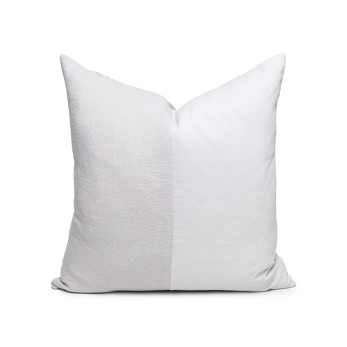 Carre Pearl Gray Velvet Pillow - Front