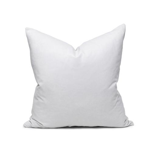 Sophie Pearl Gray velvet decorative pillow - front