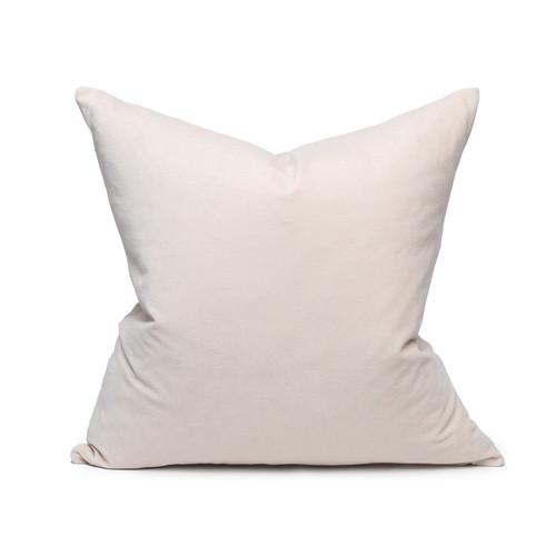 Sophie Blush Velvet decorative pillow - front