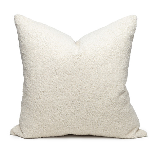Cloud Vegan Faux Sherpa Fur Washable Pillow - Front