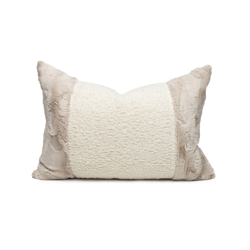 Sacha Vegan Faux Sherpa Fur Washable Pillow - Front