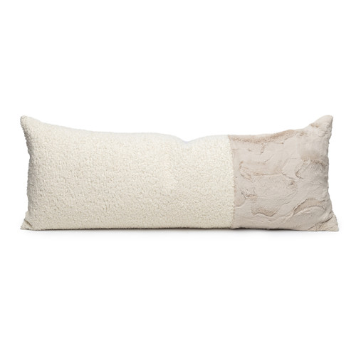 Camille Vegan Faux Sherpa Fur Washable Pillow - Front