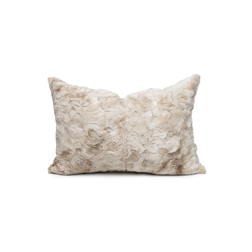 Sugar Vegan Tan Faux Fur Washable Pillow - Front