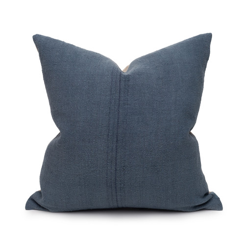 Bondi Hemp Indigo Pillow - 20 - Front