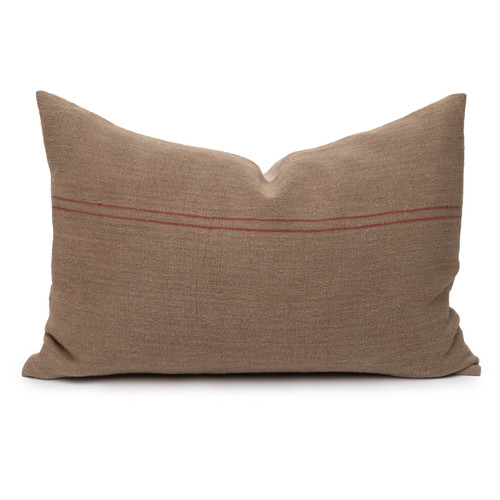 Hemp Stone Lumbar Pillow - 17 x 26 - Front