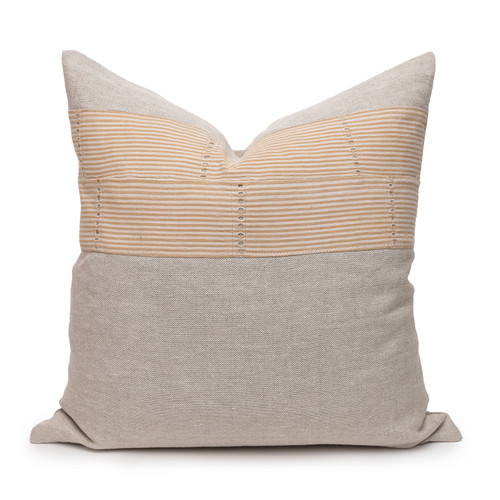 Lina Sand Luxe Vintage Pillow - 22 - Front
