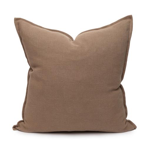 Simone PURE LINEN pillow Stone - front