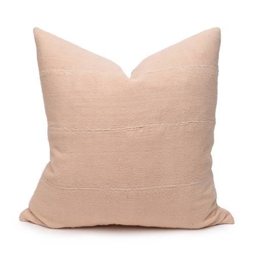 Joe Blush Mud Cloth Pillow - 22 - Front