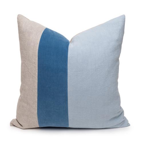 Celine Kyanite Linen Velvet Pillow - Front