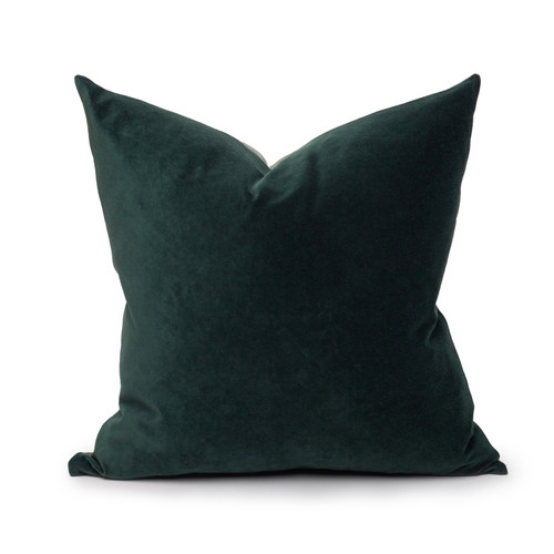 Sophie Tourmaline Cotton Velvet Decorative Pillow - Front