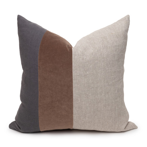Celine Smokey Quartz Linen Velvet Pillow - Front