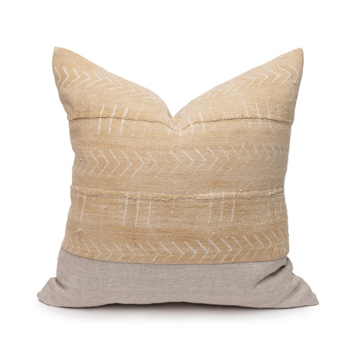 Selsey Mud Cloth Pillow - 20 - Front View