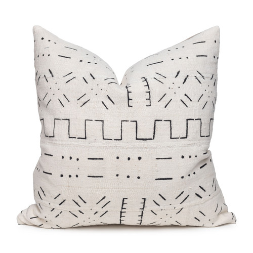 Himal Mud Cloth Pillow - 22 - Front View