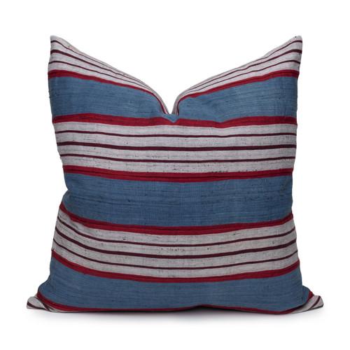 """Rubi Indigo Pillow 22"""" x 22"""" -  Front View"""