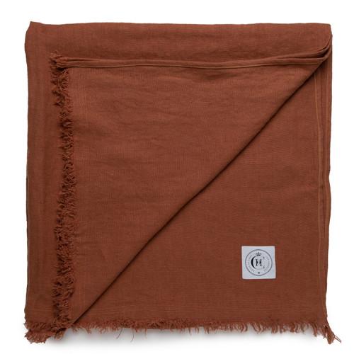 Topanga Throw Blanket- Rust