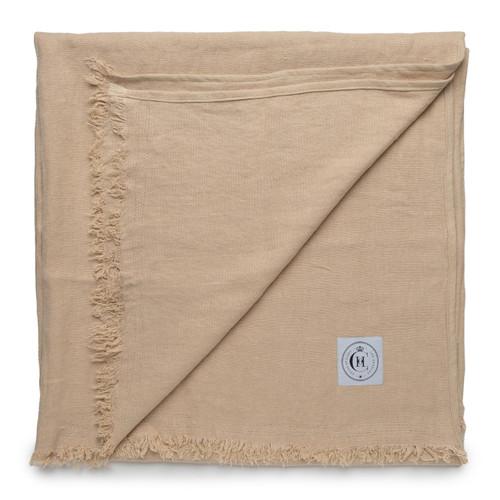 Topanga Throw Blanket- Straw