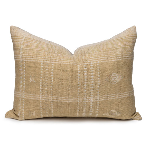Park Handspun Indian Wool Ivory and Wheat 24 inch Pillow - Front