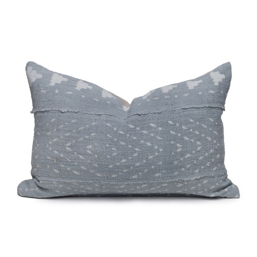 """Ivy Lumbar Mud Cloth Pillow - 1420""""- Front"""
