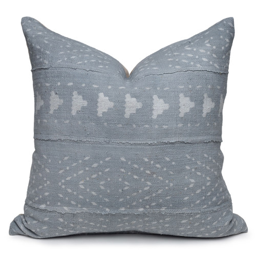 """Ivy Mud Cloth Pillow - 22""""- Front"""