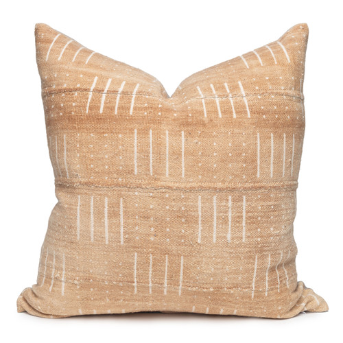 """Osh Pillow, Printed Mud Cloth Pillow - 22""""- Front"""