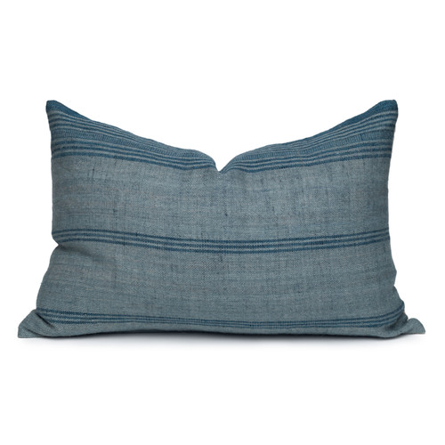 Trevor Handspun Indian Wool Delphi Lumbar Pillow- 18 x 26- Front View